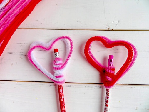Pencil Toppers Heart Craft