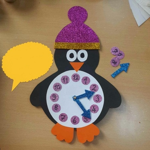 Penguin Small Clocks For Crafts