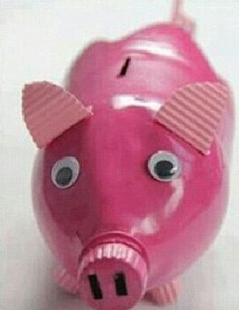 how to make piggy bank at home with waste material