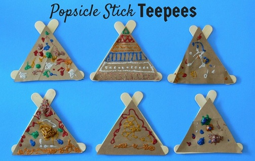 Popsicle Teepees