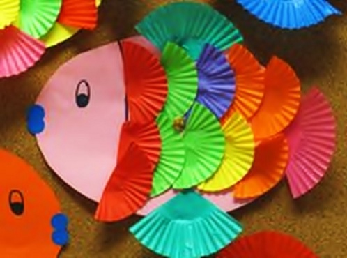 Preschooler's Rainbow Fish Crafts