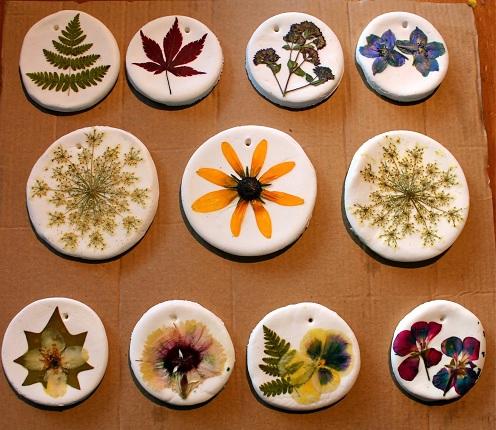 Pressed Flower Ornament Craft