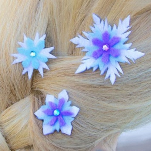 Princess Hair Clips Frozen Crafts