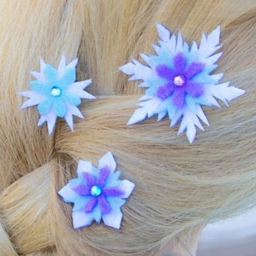 Princess Hair Clips Frozen Crafts