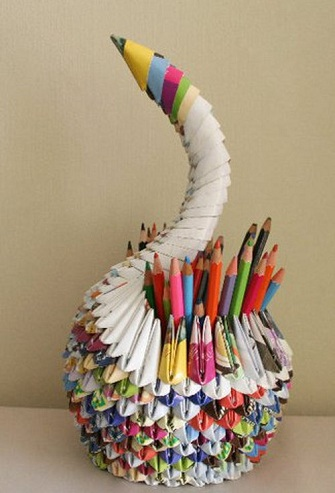 Recycle Paper Craft Pencil Holder