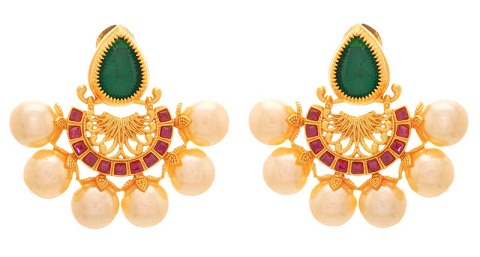 Ruby and Pearl 4 gm Earring