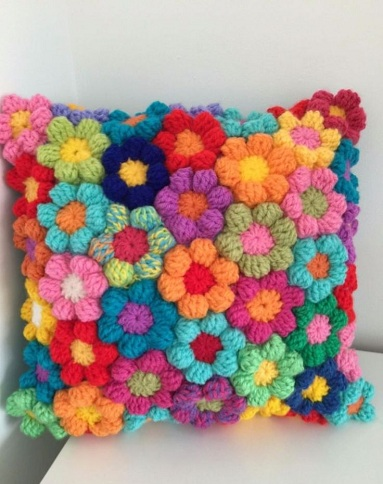 Rugging Rainbow Pillow