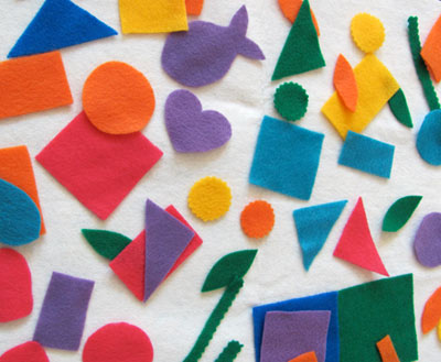 Shapes Made with Felt