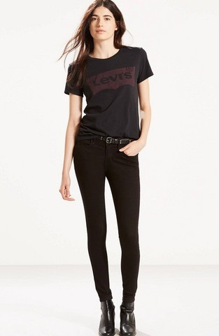 Sizzling Levis Black Jeans for Women
