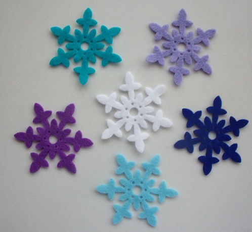 Snowflakes Felts Frozen Crafts