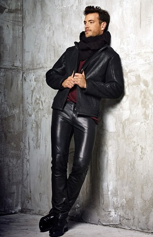 Straight Leather Jean