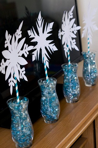 Table Centre Piece Frozen Crafts