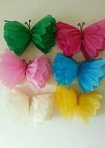 Tissue Butterfly Craft