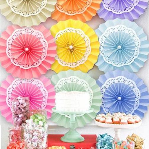Tissue Paper Fans