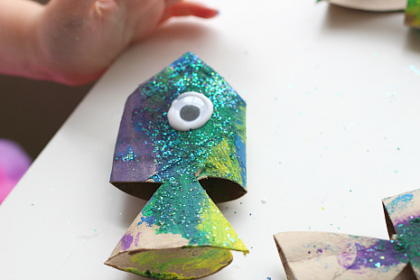 Toilet Paper Fish Craft
