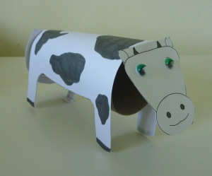 Toilet Paper Roll Cow