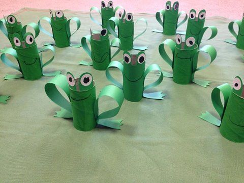Toilet Paper Roll Frogs