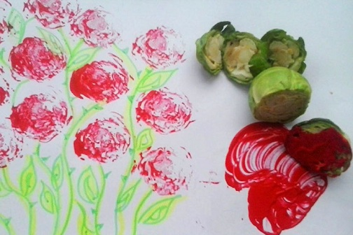 Vegetable Stamping Craft