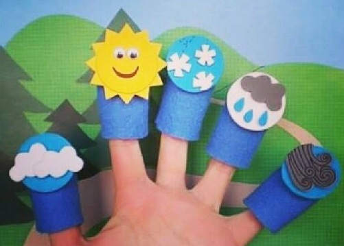 Weather Craft Finger Puppets