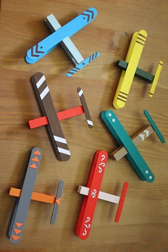 Wooden Airplanes as a Crafts