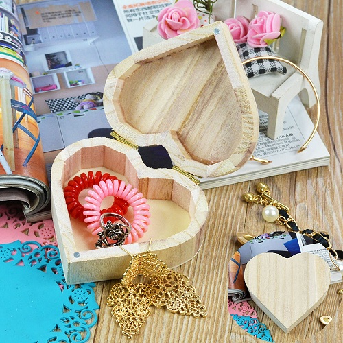 Wooden Craft Jewelry Box Craft