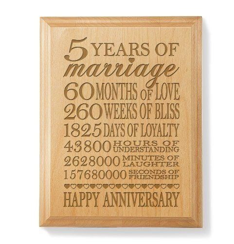 5th anniversary wood gifts-Wooden Plaque