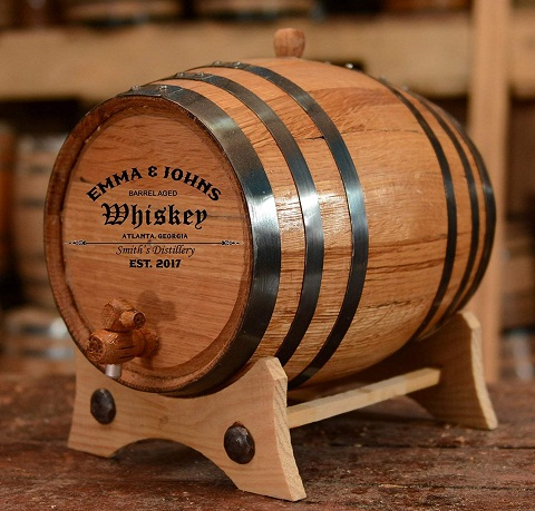 Wooden Whiskey Barrel