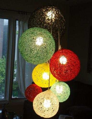 Yarn Ball Lights