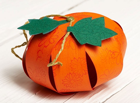 3D Paper Pumpkin Crafts