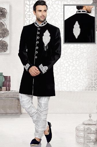 Black Velvet Indo Western Kurta Pajama