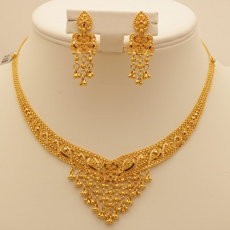 Bridal Gold Necklace Design