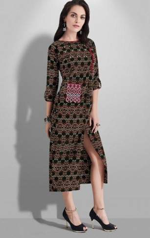 Center Cut Kurti for Winter