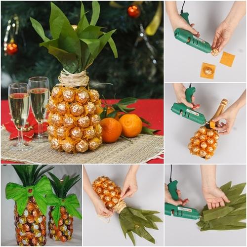 Chocolates and Wine Bottle Craft Ideas