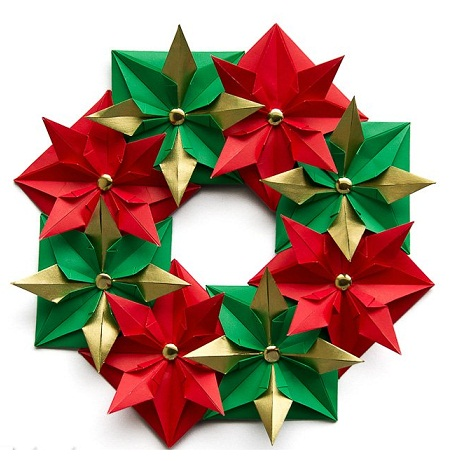 Origami Wreath and Garland   461x457