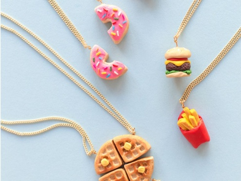 Clay Food Pendants