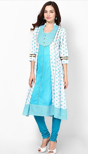 Collared Scoop Necklines Kurta Design