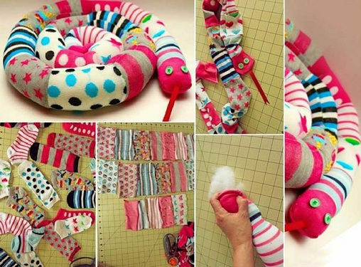 Colourful Socks Craft Ideas