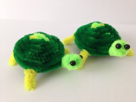Colourful Turtle Pipe Cleaner Crafts