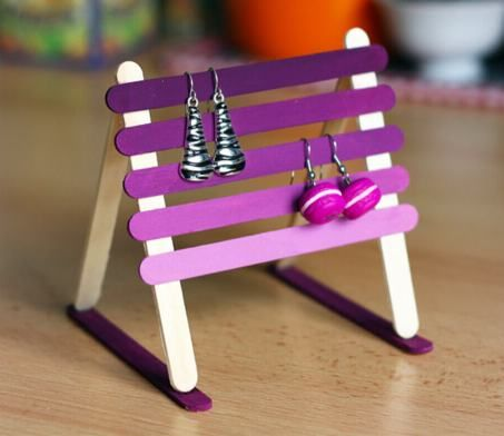 Craft Stick Stand Fun Make This Lovely Earring Holder With Simple
