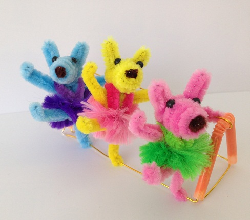 Cute Puppies Pipe Cleaner Crafts