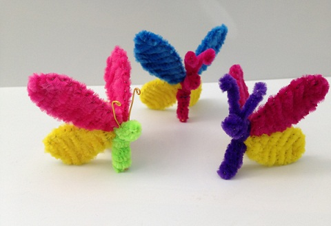 DIY Butterfly Pipe Cleaner Crafts