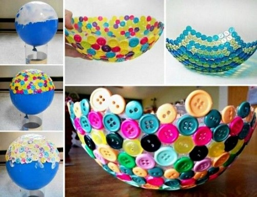DIY Button Bowl Craft Ideas