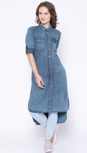 Denim Long Kurta
