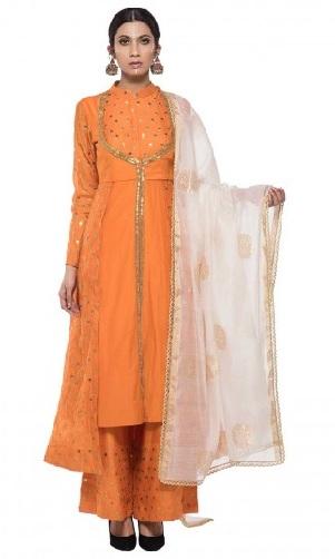 Designer Orange Kurti