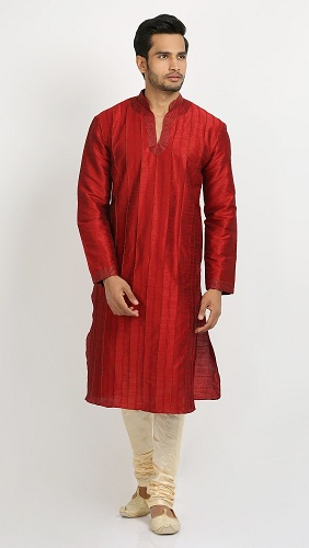Embroidered Neck Kurta