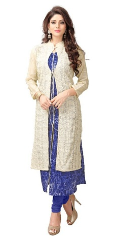 Festive and Party Printed Embroidered Kurti