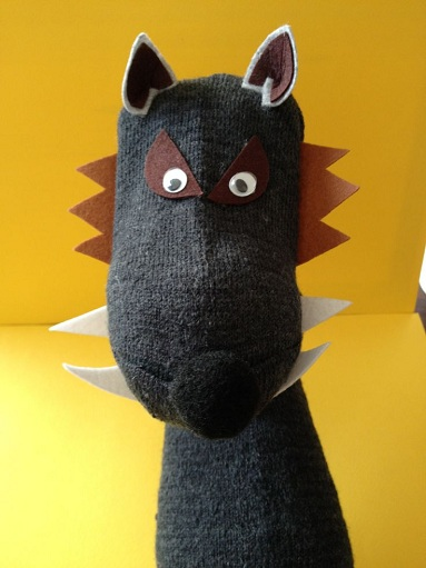 Finger Sock Puppet Wolf Crafts