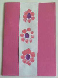 Fingerprint Flower Cards for Mother's Day