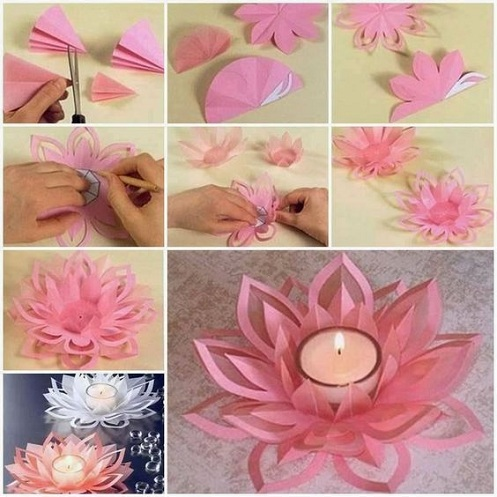 Flower Candle Holder Craft Ideas