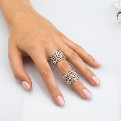 Flower Full Finger Ring